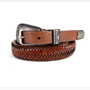 Lucky Brand Western Leather Belt Brown XS